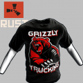 RUST Grizzly Trucking Black Tee